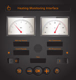 Home Monitoring. System Interface Vector Elements Royalty Free Stock Photos