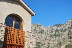Home in Montserrat. House in the mountain of Montserrat in Catalonia, Spain Stock Image