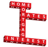 Home mortgage interest rates Royalty Free Stock Photos