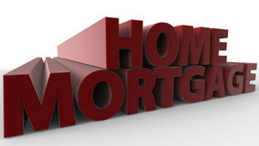 Home Mortgage. Text  3D rendered concept Royalty Free Stock Photography
