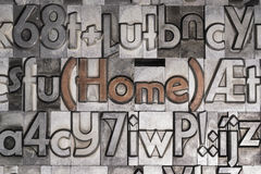 Home with movable type printing Royalty Free Stock Image