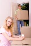HOME movente Fotos de Stock