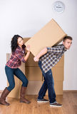HOME movente Imagens de Stock Royalty Free