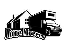 Home movers. An illustration of home movers icon Stock Photo