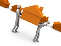 home movers för affär Arkivfoton