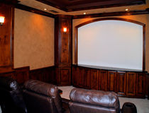 Home movie theater Stock Photography