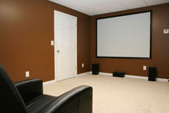 Home Movie Theater Stock Images