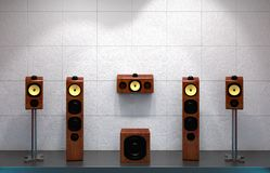 Home multimedia speakers Stock Images