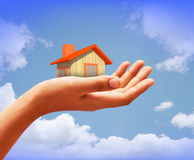Home in my hand Royalty Free Stock Photo