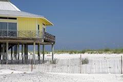 HOME na praia Imagem de Stock