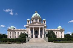 National Assembly of the Republic of Serbia. Home of the National Assembly of the Republic of Serbia stock photo