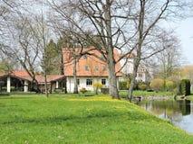 Home near little lake Stock Photo
