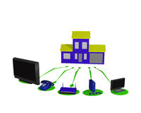Home networking concept Stock Photo