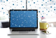 Home networking Stock Image