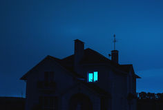 Home at night Stock Images