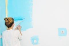 HOME nova de pintura Foto de Stock