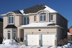 HOME nova no inverno foto de stock royalty free
