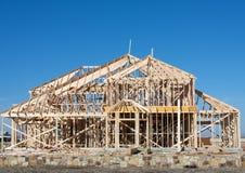 HOME nova sob a construção Fotos de Stock Royalty Free
