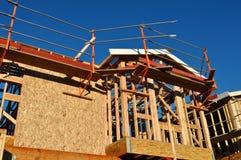 HOME nova sob a construção fotografia de stock