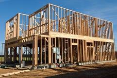 HOME nova sob a construção foto de stock