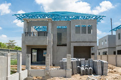 HOME nova sob a construção Foto de Stock Royalty Free
