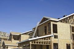 HOME novas sob a construção Fotografia de Stock