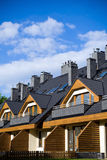 HOME novas sobre o céu nebuloso azul Imagens de Stock Royalty Free