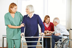 Home nursing care for senior couple. At home Royalty Free Stock Photo