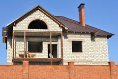 home nytt för byggnad Arkivbild