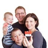 home nytt för familj Fotografering för Bildbyråer