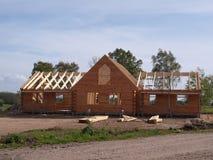 home nytt trä för konstruktion Royaltyfria Bilder