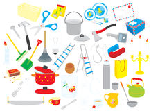 Home objects stock illustration