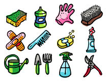 Home objects icons royalty free stock photo