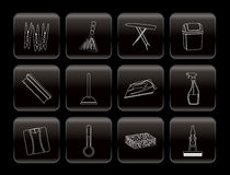 Home objects and tools icons Stock Images