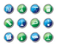 Home objects and tools icons over colored background royalty free illustration