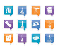 Home objects and tools icons stock illustration
