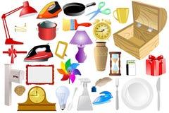 home objekt stock illustrationer