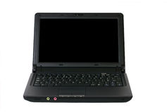 Home office 03. A netbook computer on a white background Royalty Free Stock Photo