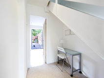 Home office. A home office space under stairs in a converted house Royalty Free Stock Photography