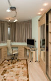 Home office area interior stock image