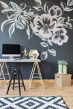 Home office with chalkboard Stock Photo