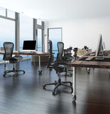 Home office in a coastal apartment Stock Images