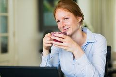 Home Office - Coffee Break Stock Photography
