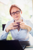 Home Office - Drink Coffee Stock Images