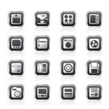 Home and Office, Equipment Icons Stock Image