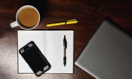 Home Office Flat lay royalty free stock photos