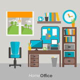 Home office furniture icon poster Stock Photography