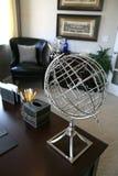 Home Office Interior (Focus on Globe) Royalty Free Stock Photos