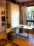 Home office loft for a freelance professional stock images