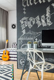 Home office open to bedroom idea Royalty Free Stock Photography